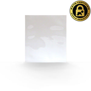 "3.5""x4.5"" Single Serve, Child Resistant Mylar Bags in White/White (0.16/Unit) - GrowCargo"