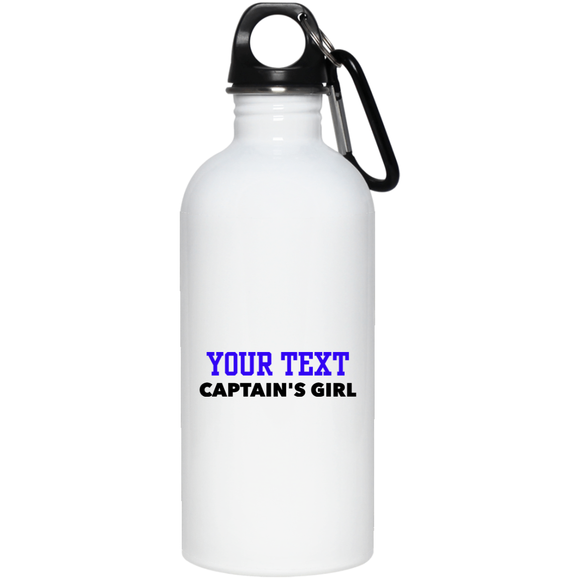Personalized-Captain's Girl 20 oz. Stainless Steel Water Bottle
