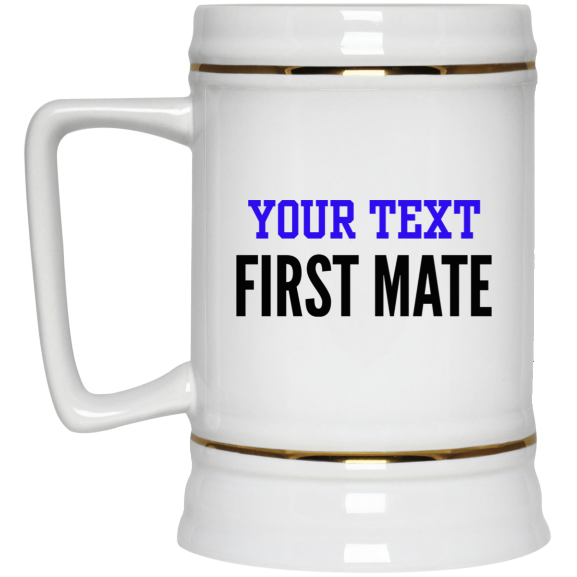 Personalized-First Mate Beer Stein 22 oz.