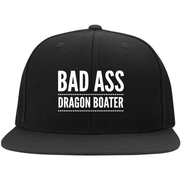 BadAss Dragon Boater Sport-Tek Flat Bill High-Profile Snapback Hat