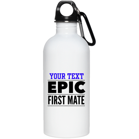 Personalized-Epic First Mate 20 oz. Stainless Steel Water Bottle