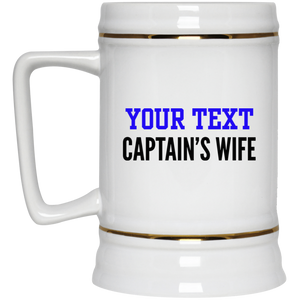 Personalized-Captain's Wife Beer Stein 22 oz.