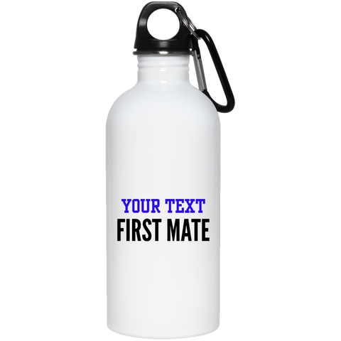 Personalized-First Mate 20 oz. Stainless Steel Water Bottle