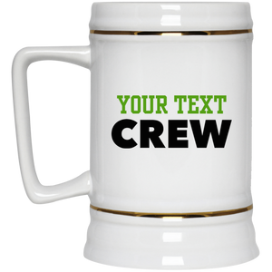 Personalized-Crew Beer Stein 22 oz.