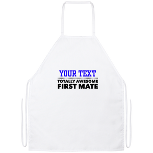 Personalized-Totally Awesome First MateApron
