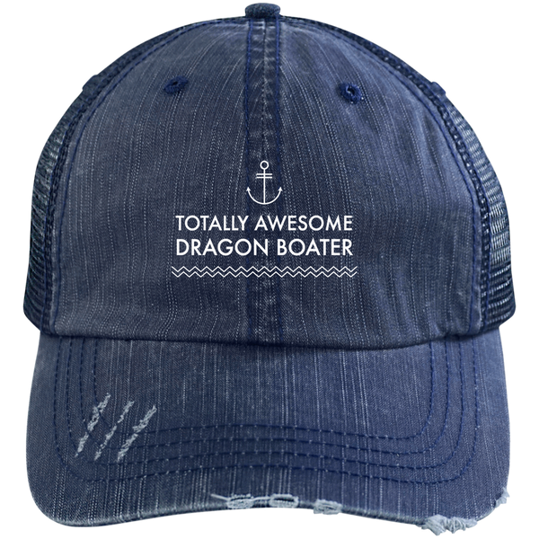Totally Awesome Dragon Boater Distressed Unstructured Cap