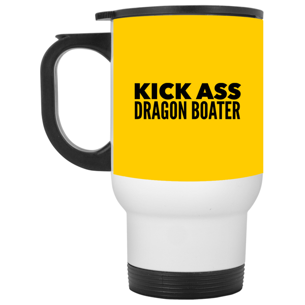 KickAss Dragon Boater White Travel Mug