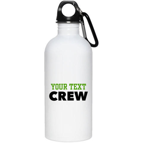 Personalized-Crew 20 oz. Stainless Steel Water Bottle