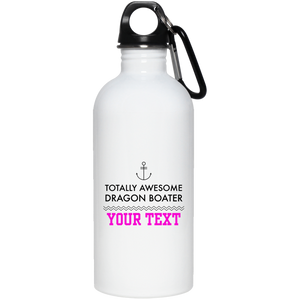 Personalized-Totally Awesome Dragon Boater - Anchor 20 oz. Stainless Steel Water Bottle