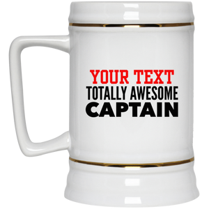 Personalized-Totally Awesome Captain Beer Stein 22 oz.