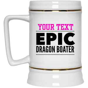 Personalized-Epic Dragon Boater Beer Stein 22 oz.