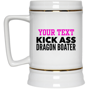 Personalized-KickAss Dragon Boater Beer Stein 22 oz.