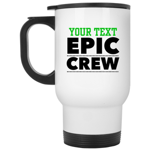 Personalized-Epic Crew White Travel Mug