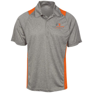 Fast Response Marine Sport-Tek Heather Moisture Wicking Polo