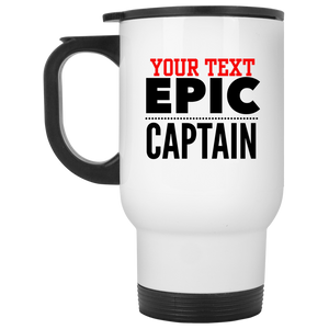 Personalized-Epic Captain White Travel Mug