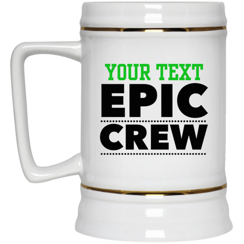 Personalized-Epic Crew Beer Stein 22 oz.