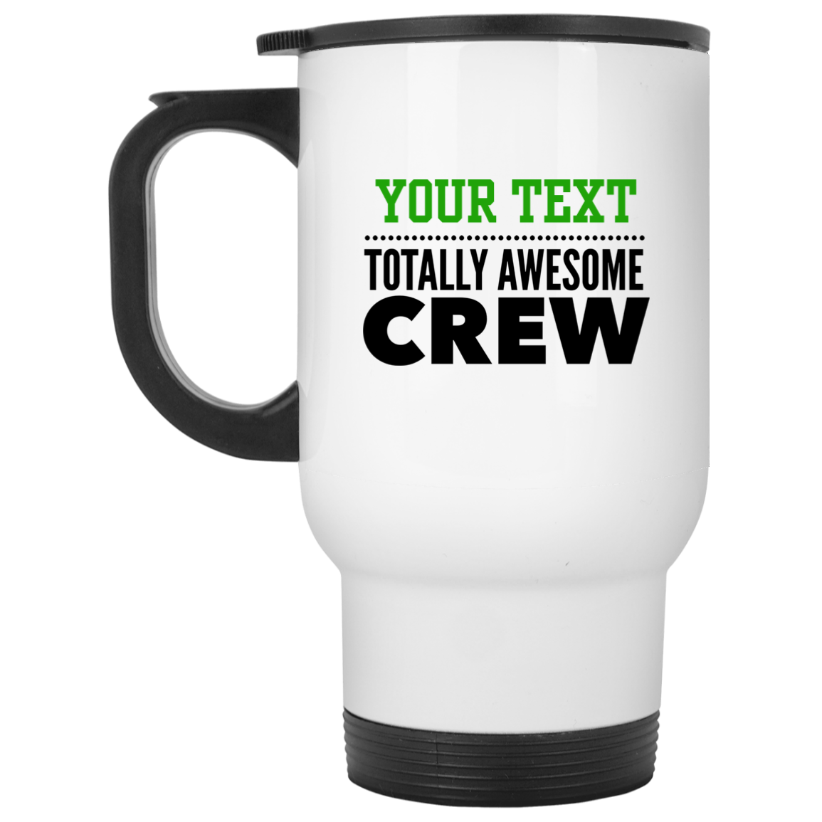 Personalized-Totally Awesome Crew White Travel Mug