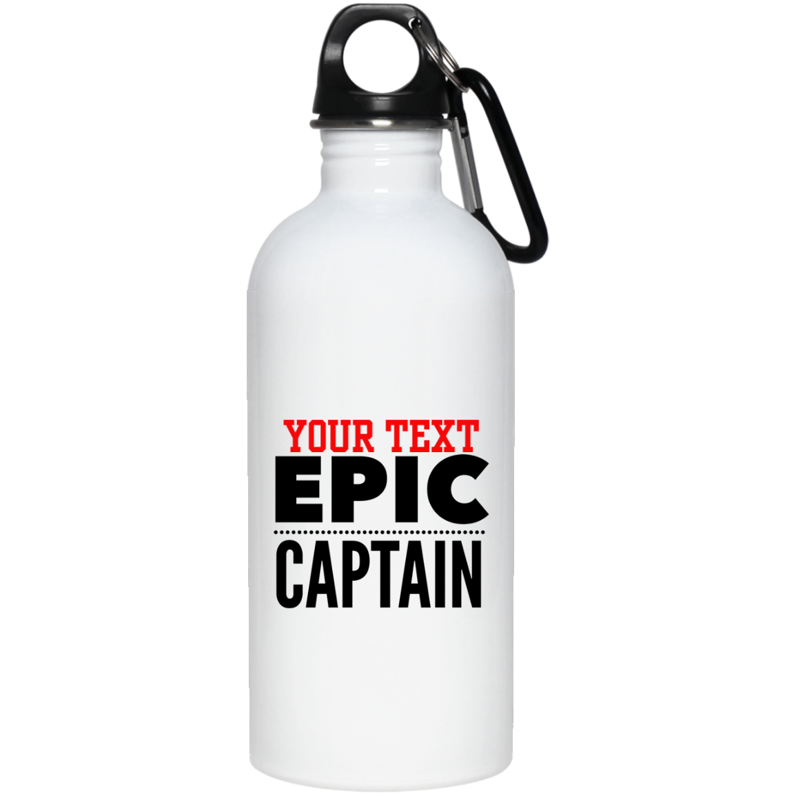 Personalized-Epic Captain 20 oz. Stainless Steel Water Bottle