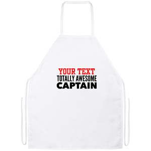 Personalized-Totally Awesome Captain Apron
