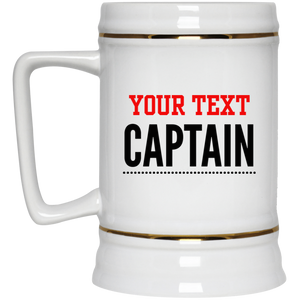 Personalized-Captain Beer Stein 22 oz.