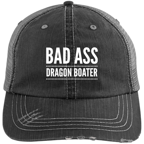 BadAss Dragon Boater Distressed Unstructured Cap