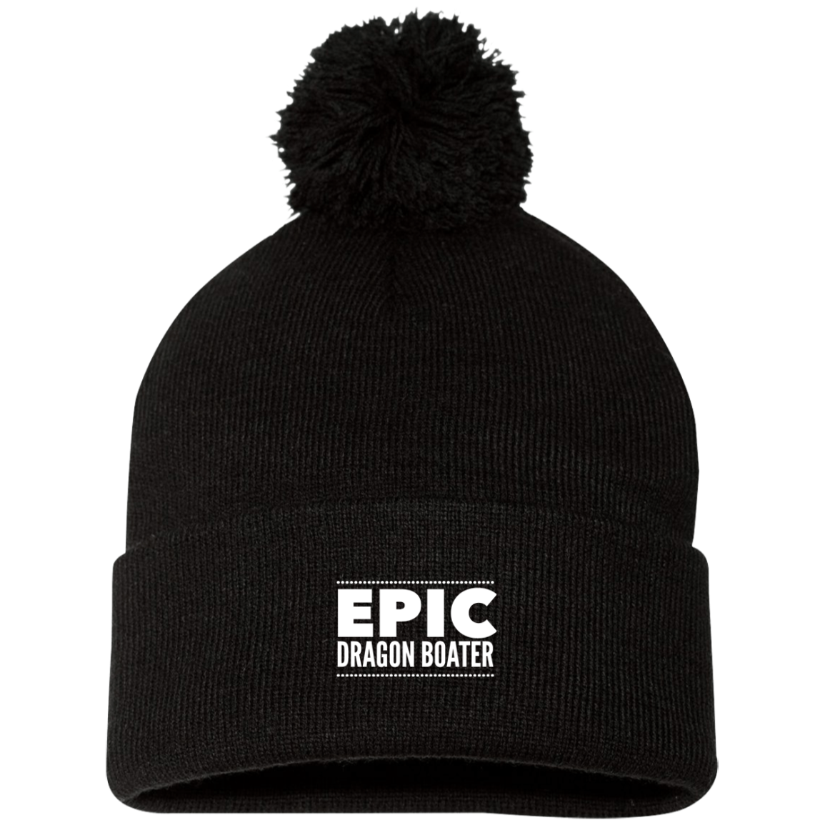 Epic Dragon Boater Sportsman Pom Pom Knit Cap