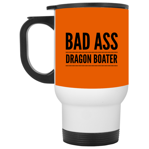 BadAss Dragon Boater White Travel Mug