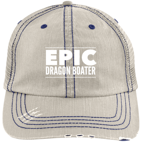 Epic Dragon Boater Distressed Unstructured Cap