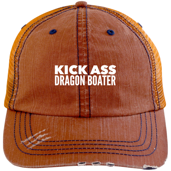 KickAss Dragon Boater Distressed Unstructured Cap