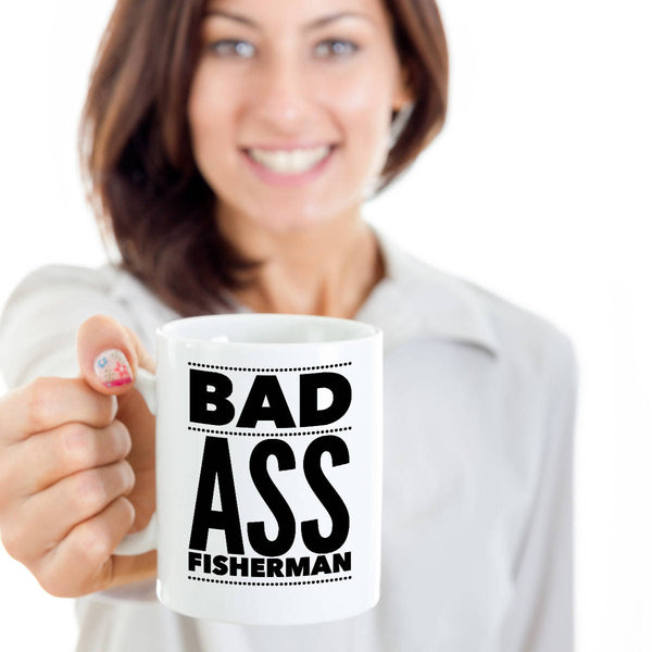 Funny Gift for Fisherman  Fisherman Gift  BadAss Fisherman Coffee Mug