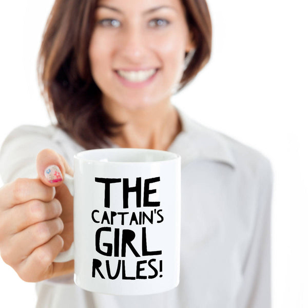 Funny Boating Gifts The Captain's Girl Rules Coffee Mug Ceramic