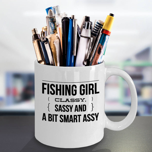 BFF Coffee Mugs Funny Sassy Fishing Girl