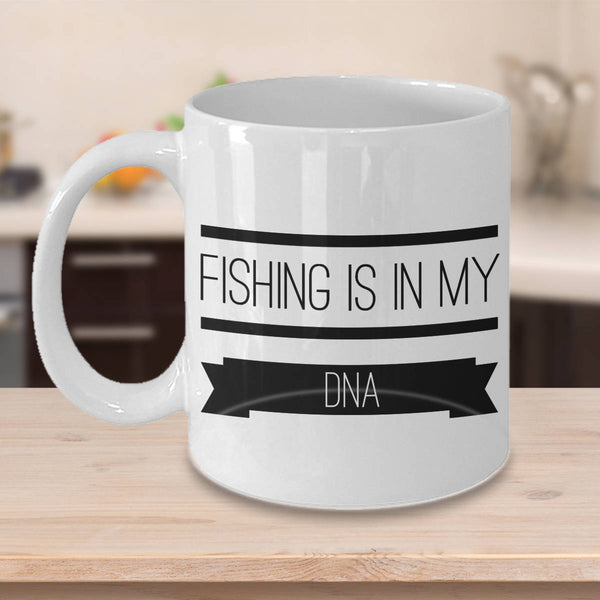 Funny Gift for Fisherman  Fisherman Gift  Fishing is in My DNA Coffee Mug