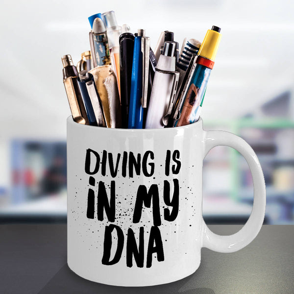 Funny Gift for Diver Diving is in My DNA Coffee Mug