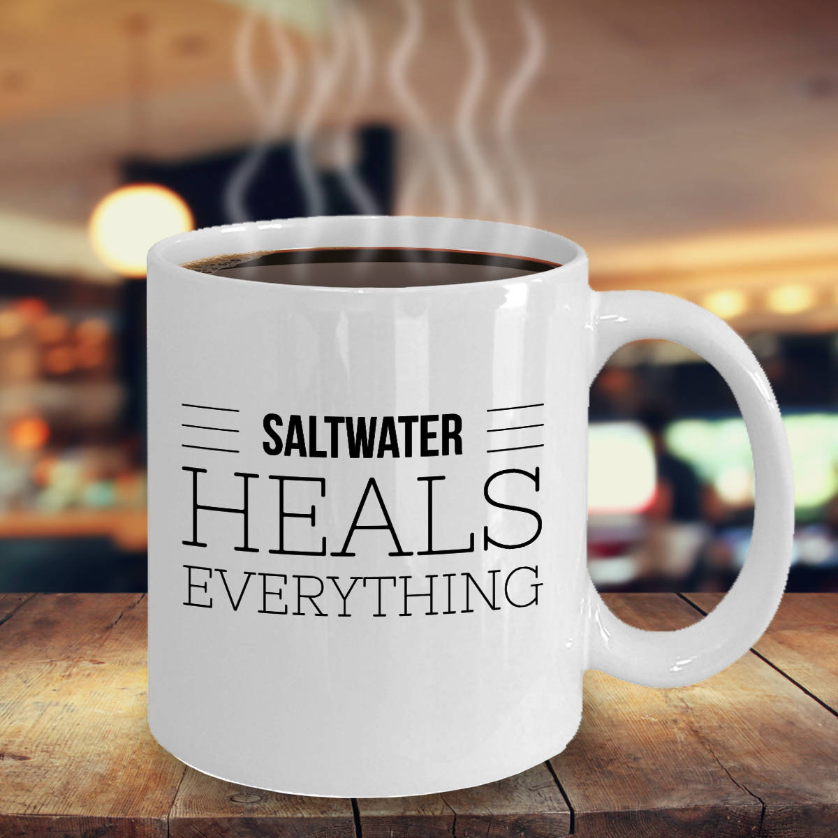 Saltwater Lovers Gift Saltwater Heals Everything Coffee Mug