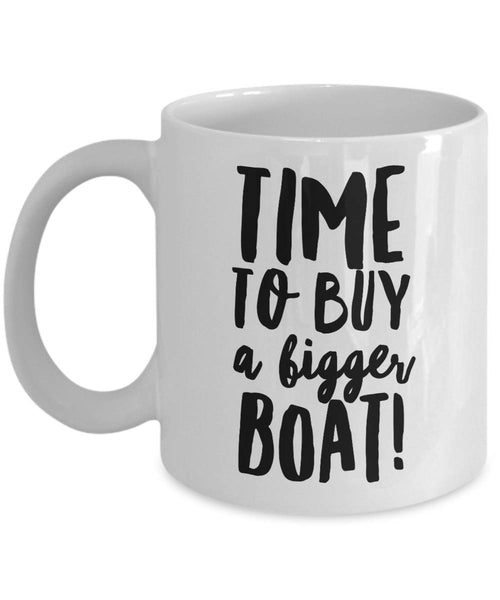 Baby Announcement New Father Gift Time to Buy a Bigger Boat Coffee Mug