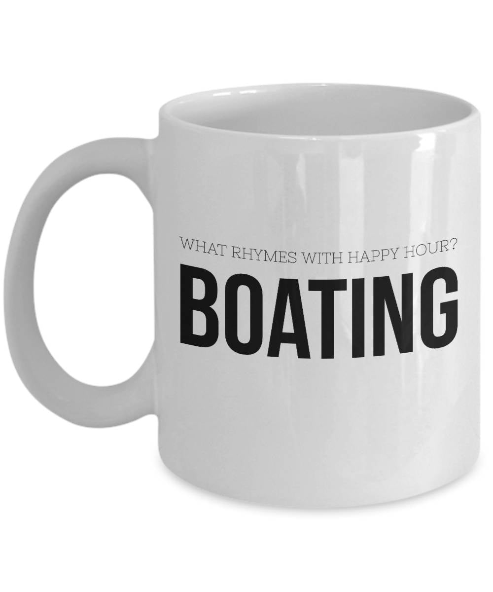 Gift for Boater Gift for Boaters Happy Hour Coffee Mug