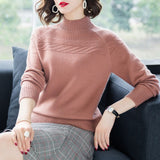 Vangull Spring Women Solid Knitted Sweater Pullovers Fashion Autumn Casual Warm Female Pullover Sweater Lady Elegant
