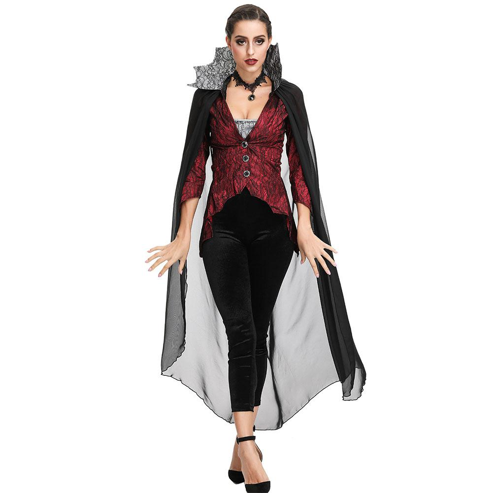 Halloween Vampire Costume Devil Monster Cosplay Party Fancy Dress Adult Vampire Queen Performance Costume for Easter Day