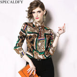 Runway Brand Vintage Blouse Women's Tops And Blouses Spring Long Sleeve Shirt Women High Quality Fashion Blusa Femininas