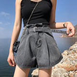GUUZYUVIZ Casual Jeans Woman Plus Size Loose Wide Leg Denim Pants Mujer High Waist Jean Shorts Women Summer 2019 Short Femme