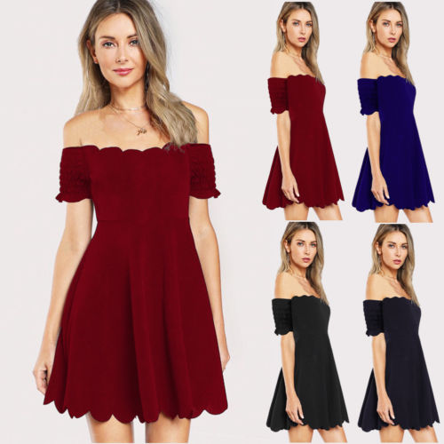 Retro Vintage Women's Solid Color Mini Dress Sexy Lace Stylish Out Off-shoulder Zipper Girls Dresses Plus Size