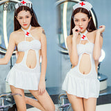 Erotic slutty Night Club nurse uniform porno nurse costume Sexy japanese naughty lingerie Hot Babydoll cosplay sex play skirt