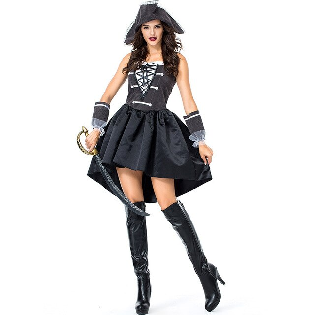 Hot! New halloween Pirate dress costume Pirate captain cosplay sailor Online store for sale