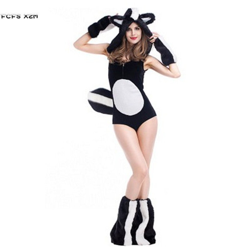 Deluex Kigurumi Sexy Woman Halloween Animal Costumes Female Squirrel Cosplay Winter pajamas Purim Carnival Christmas party dress