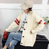TIGENA Free shipping Red Green Long Cardigan Women Fall Winter Single Breasted Pocket Long Sleeve Sweater Cardigan Female Knitted Jacket