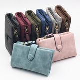 Free shipping Women Wallets Long Style Multi-functional wallet Purse Fresh PU leather Female Clutch Card Holder