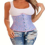 Free shipping fashion lace up back steel boned top corsets underbust waist trainer