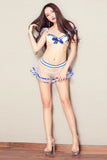 Shanghai Story Sexy Lingerie Temptation School Girl Sailor Suit Transparent Role-playing Games Erotic Female Navy Costume