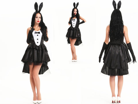 FREE SHIPPING LEG AVENUE Tux & Tails Bunny Animal Sexy Fairytale Fancy Dress Costume